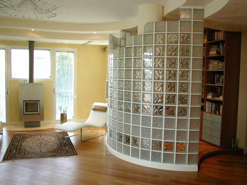 Дизайн интерьера из стеклоблоков