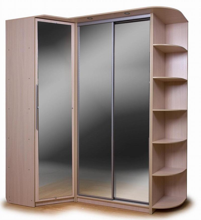 Угловой шкаф купе в спальню